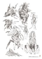 Pygmidown + sketches by MIKECORRIERO