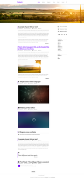Pandastic* - PSD Blog template FREE by Dr-Vark