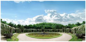BG Versailles Garden Exclusive by Eirian-stock