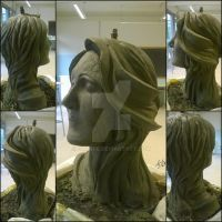 Clay Sculpture- Head modeling (wip) by Darboe