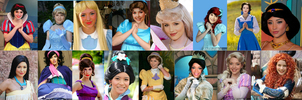 Real Life Disney Heroines by supereilonwypevensie