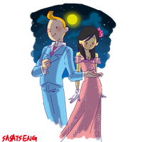 Tintin-moon festival by SAcommeSASSY