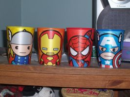 Avengers cups CHIBIS by Darkflametailz