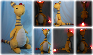 Light-up Ampharos Plush - Free Pattern! by Diffeomorphism