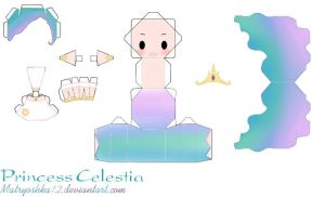 Princess Celestia My Little Pony Papercraft by matryoshka12