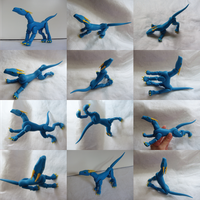 Blu The Posable Dragon Views by vonBorowsky