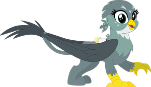 My 1st vector of, Gabby the Griffon. by Flutterflyraptor