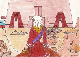Thief King Bakura in Egypt by Sam-wyat