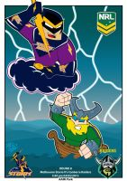 Melbourne Storm Vs Canberra raiders by Drew0b1