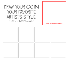 DRAW YOUR OC IN YOUR FAVORITE ARTISTS STYLE [MEME] by lilac-crystals