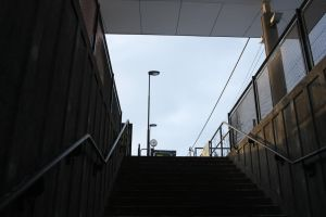 Stairs to a train station by ProjektGoteborg