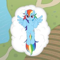 On A Cloud by cow41087