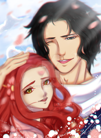 AT w/ Hatochan19 || Ace and Hatomi by Ladyof-Spades