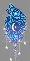 Star Tribal Wolf by sugarpoultry