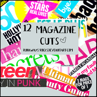 12 Magazine cuts PNGs by runaways-rocks