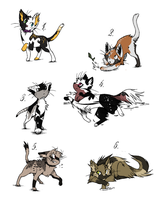 Cheap cat adoptables CLOSED by thewindwhisper