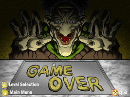 Game Over Screen with buttons by MrNoobtastic