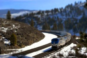 Tiny Train - Tilt Shift by ichigo-55ty