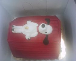 snoopy cake sculpture 2 by nlpassions