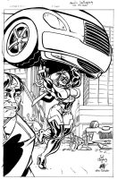 UltraVixen Cover inks by ericalannelson