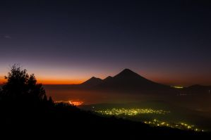 Volcanoes and stars by SantiBilly