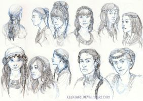 Feminine hairstyle - Bear's Clan by Kkohaku
