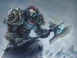 Orc Death Knight by Nepharus