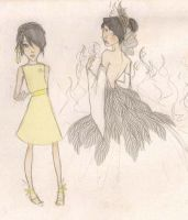 Katniss Doodles by mox-ie
