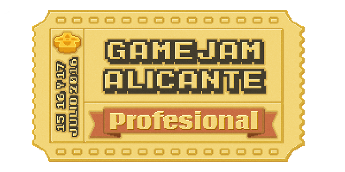 Gamejam Alicante Virtual Ticket by Toomanypenguins