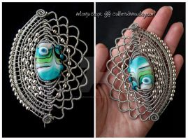 Mermaid Scales brooch-pin by Faeriedivine