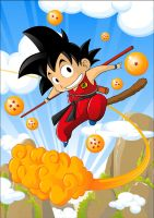 DRAGON BALL: Goku by Witchking00