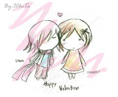 CR- Valentine Chibi Sketch by IChiTa--WiYa