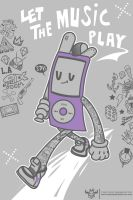 Let the music play. Free Cell Phone Wallpaper by ExoesqueletoDV