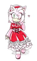 :Amy Rose: Sweet Lolita by Amortem-kun