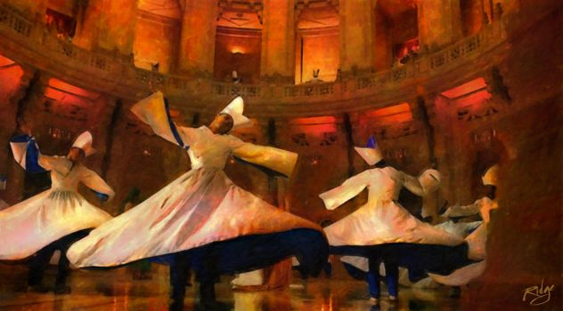 Whirling Dervishes in a State of Bliss by Lance-Daniel-Smith