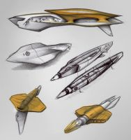 Submarine - Sketchs 01 by Vincent-Montreuil