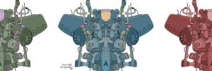 Betteo's Half Robot Coloured by pernobassist