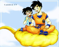 Nishune and Goku by camlost