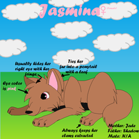 Jasmina's Ref Sheet by M0N0KUMA