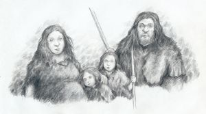 Neanderthal family by Mihin89