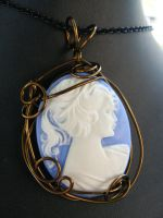 blue lady in bronze by BacktoEarthCreations