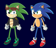 Sonic and Scourge Models by DanielPalmer