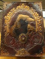 Nevermore Victorian Leather Scrapbook by StudioGruhnj