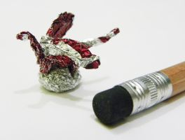 Chocolate Wrapper Dragon by twistedndistorted
