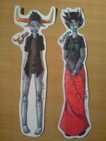 Kanaya and Tavros stickers by Franken-Fish