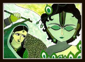 Art from the Past: I- Radha Krishna by SM1902