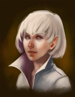 the fencer - face sketch by Ardariel