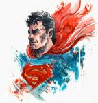 Superman Water Color Thing by RADMANRB