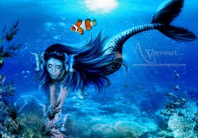 mermaid with nemo by annemaria48