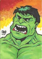 The Incredible Hulk Sketch Card by Steevcomix